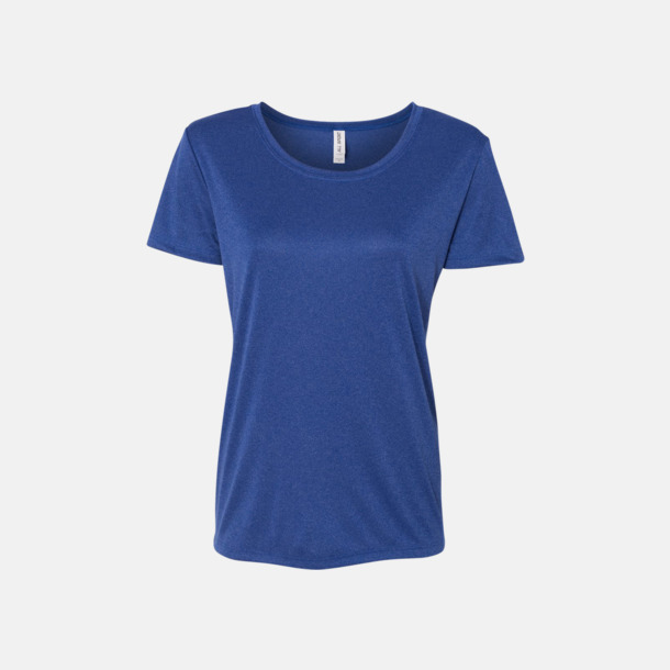 Heather Royal (dam) Kortärmade funktions t-shirts med reklamtryck