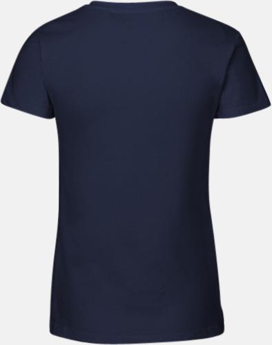 Eko bas t-shirts Fairtrade med djup v-ringning med reklamtryck