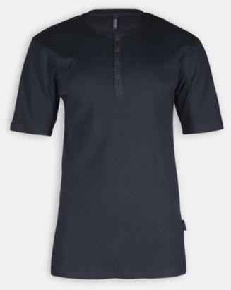 Svart Eko & Fairtrade-certifierade t-shirts med knäppning - med reklamtryck