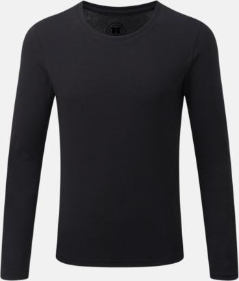 Svart Färgstarka långärms t-shirts i herr-, dam och barnmodell