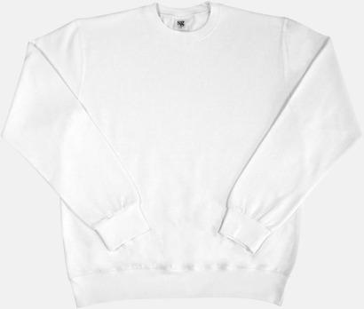 Vit Sweatshirts i herr, dam & barn med reklamtryck