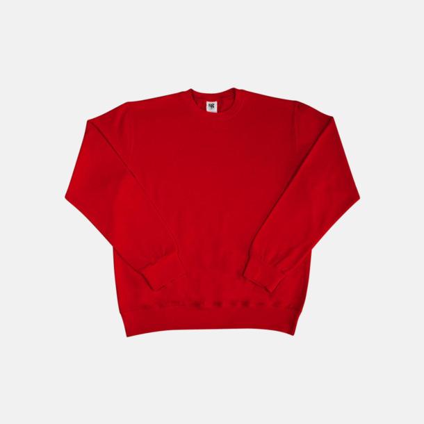 Röd Sweatshirts i herr, dam & barn med reklamtryck
