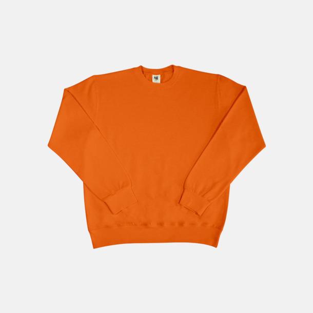 Bright Orange Sweatshirts i herr, dam & barn med reklamtryck