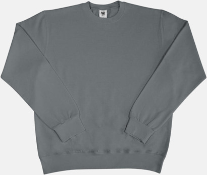 Grå Sweatshirts i herr, dam & barn med reklamtryck