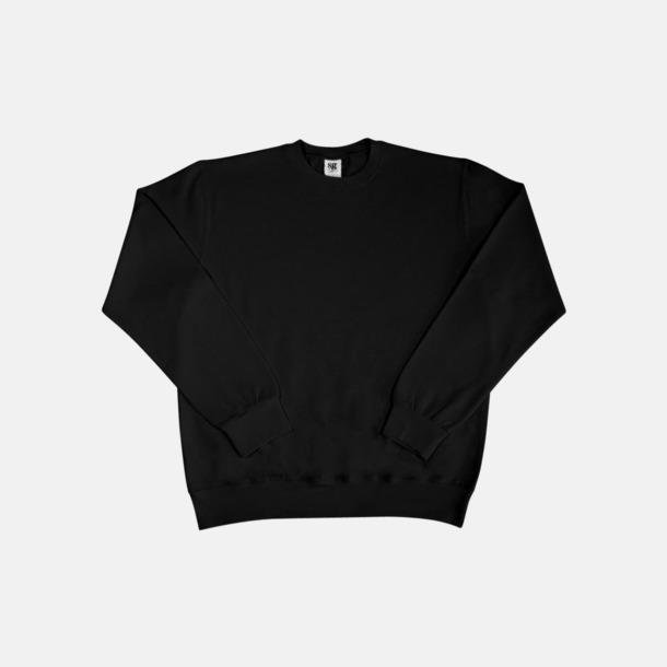 Svart Sweatshirts i herr, dam & barn med reklamtryck