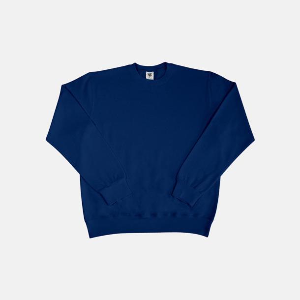 Marinblå Sweatshirts i herr, dam & barn med reklamtryck