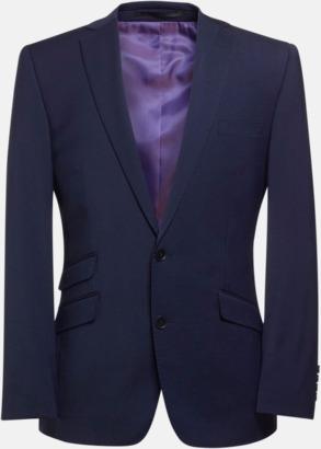 Mid Blue (herr) Kavajjacka i herr- och dammodell med reklamtryck