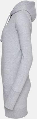 Extra långa huvtröjor i dammodell med reklamtryck