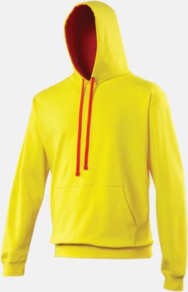 Huvtröjor med insida av luva och dragsko i kontrasterande färg - med reklamtryck