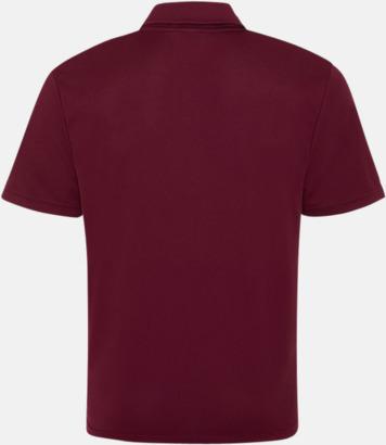Färgglada pikétröjor med reklamtryck