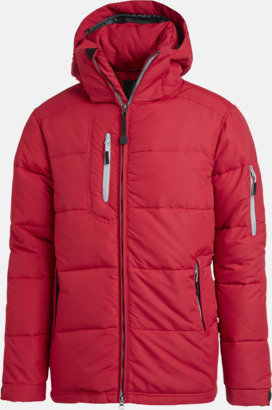 Röd Vinterjacka av nylon med eget reklamtryck eller brodyr