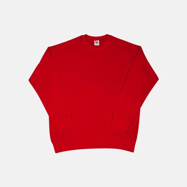 Röd Extra fina raglan sweats med reklamtryck