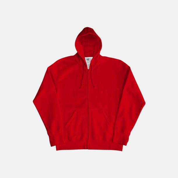 Röd/Vit (herr) Kvalitetshuvtröjor för herr, dam & barn med reklamtryck