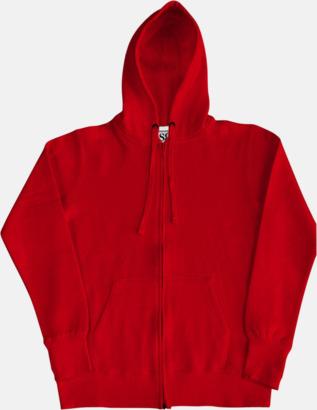 Röd/Vit (dam) Kvalitetshuvtröjor för herr, dam & barn med reklamtryck