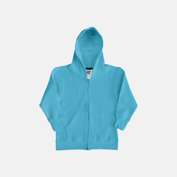 Turkos/Marinblå (barn) Kvalitetshuvtröjor för herr, dam & barn med reklamtryck