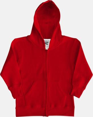 Röd/Vit (barn) Kvalitetshuvtröjor för herr, dam & barn med reklamtryck