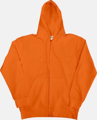 Bright Orange (herr) Fina zoodies för herr, dam & barn med reklamtryck