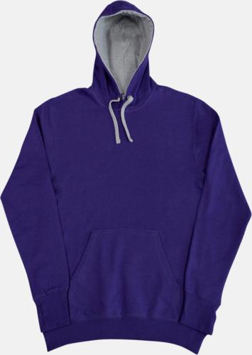 Lila/Light Oxford 2-färgade huvtröjor för herr, dam & barn med reklamtryck