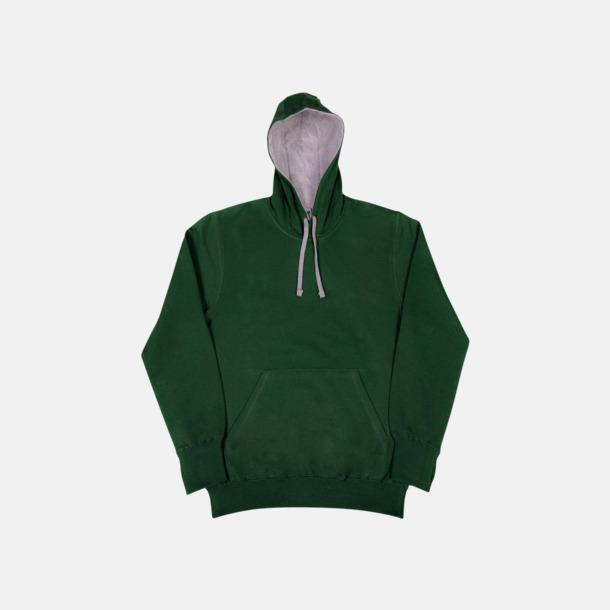Bottle Green/Light Oxford (dam) 2-färgade huvtröjor för herr, dam & barn med reklamtryck