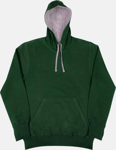 Bottle Green/Light Oxford 2-färgade huvtröjor för herr, dam & barn med reklamtryck