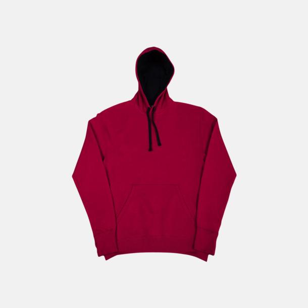 Mörkrosa/Marinblå (herr) 2-färgade huvtröjor för herr, dam & barn med reklamtryck