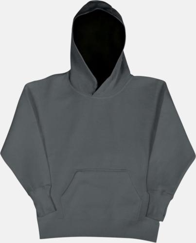 Grå/Svart (barn) 2-färgade huvtröjor för herr, dam & barn med reklamtryck
