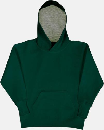 Bottle Green/Light Oxford (barn) 2-färgade huvtröjor för herr, dam & barn med reklamtryck