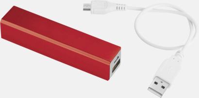 Röd Powerbanks med snabb leverans - med reklamtryck