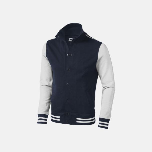 Marinblå / Off-White Snygga Varsity tröjor från Slazenger med reklamtryck