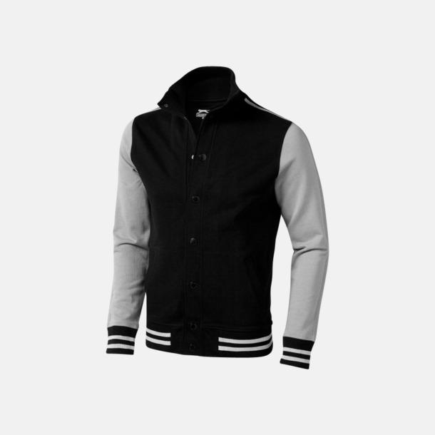 Svart / Grå Snygga Varsity tröjor från Slazenger med reklamtryck