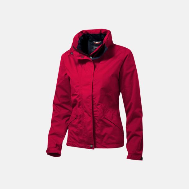 Röd (dam) Slazenger jackor med reklamtryck