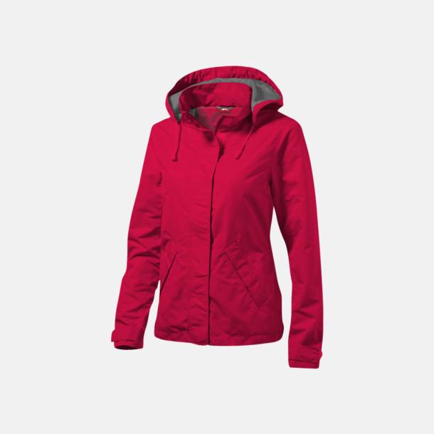 Röd (dam) Funktionella jackor från Slazenger med reklamtryck