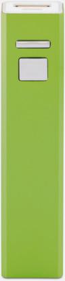 Grön Fina powerbanks i aluminium med reklamtryck