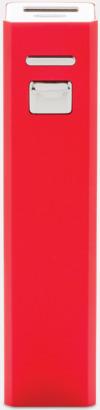 Röd Fina powerbanks i aluminium med reklamtryck