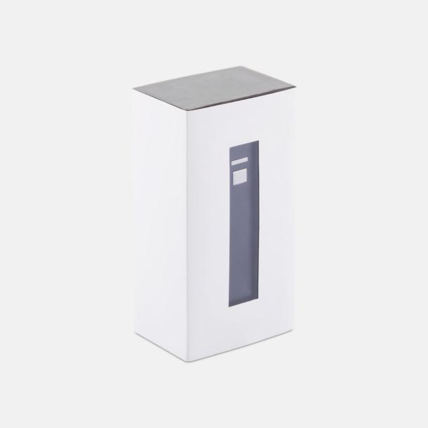 Presentförpackning Fina powerbanks i aluminium med reklamtryck