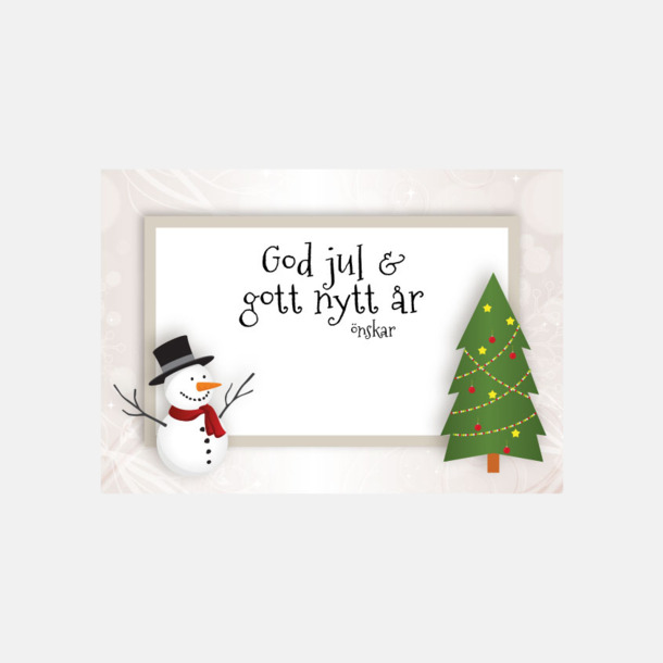 Julkort Vit (se tillval) Julsäckar i 3 storlekar med godis