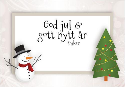 Julkort Vit (se tillval) Julsäckar fyllda med kolor