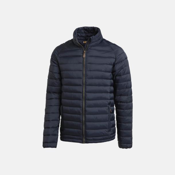 Marinblå (herr) Lättvadderade jackor med reklamtryck