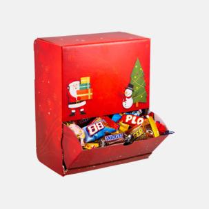 Julmönstrade godisautomater med inslaget godis - med reklamtryck