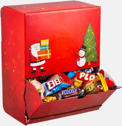 Röd Julmönstrade godisautomater med inslaget godis - med reklamtryck