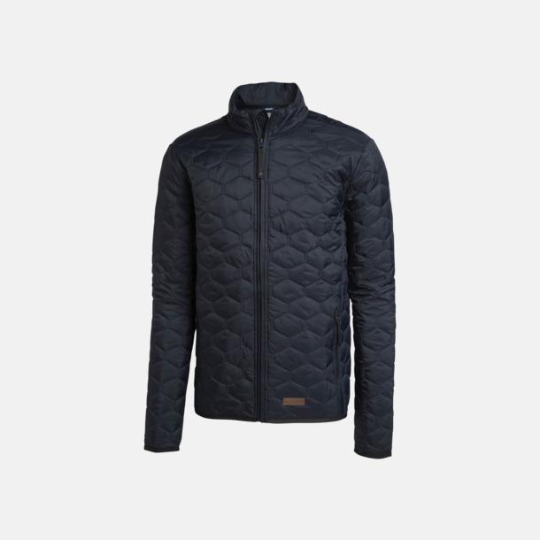 Marinblå (herr) Vadderade jackor i herr- & dammodell med reklamtryck