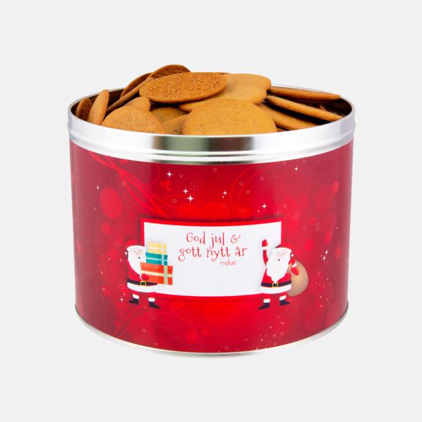 800 g (rött tema) Pepparkakor med egen etikett