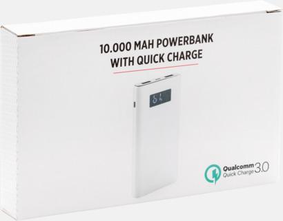 Presentförpackning Kraftfulla powerbanks med snabbladdnings-3.0-port - med reklamtryck