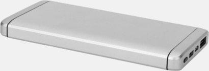 Silver Kraftfulla type C powerbanker med reklamtryck