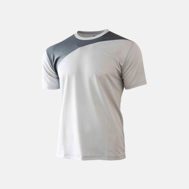 Ljusgrå/Charcoal 2-färgade funktions t-shirts med reklamtryck