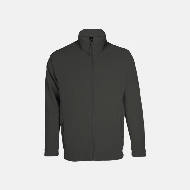 Charcoal Grey solid (herr) Tunna, varma fleecejackor med reklamlogo