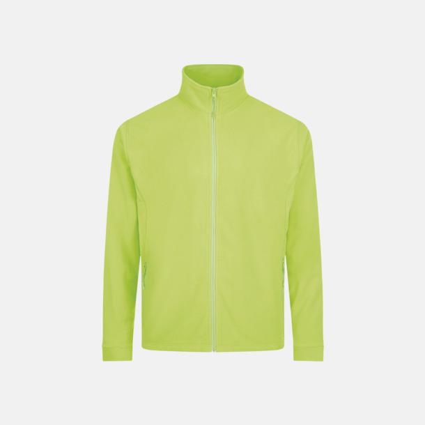 Neon Green (herr) Tunna, varma fleecejackor med reklamlogo