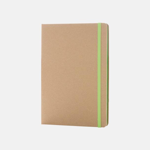Natur/Grön Anteckningsbok av återvunnet papper med reklamtryck