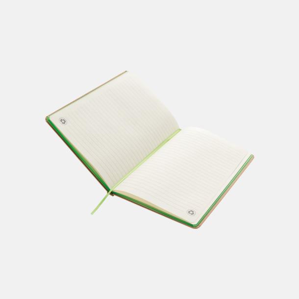Anteckningsbok av återvunnet papper med reklamtryck
