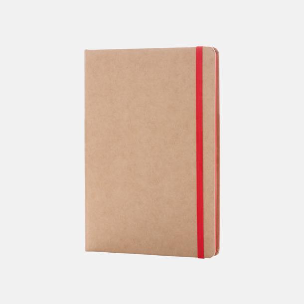 Natur / Röd Anteckningsbok av återvunnet papper med reklamtryck